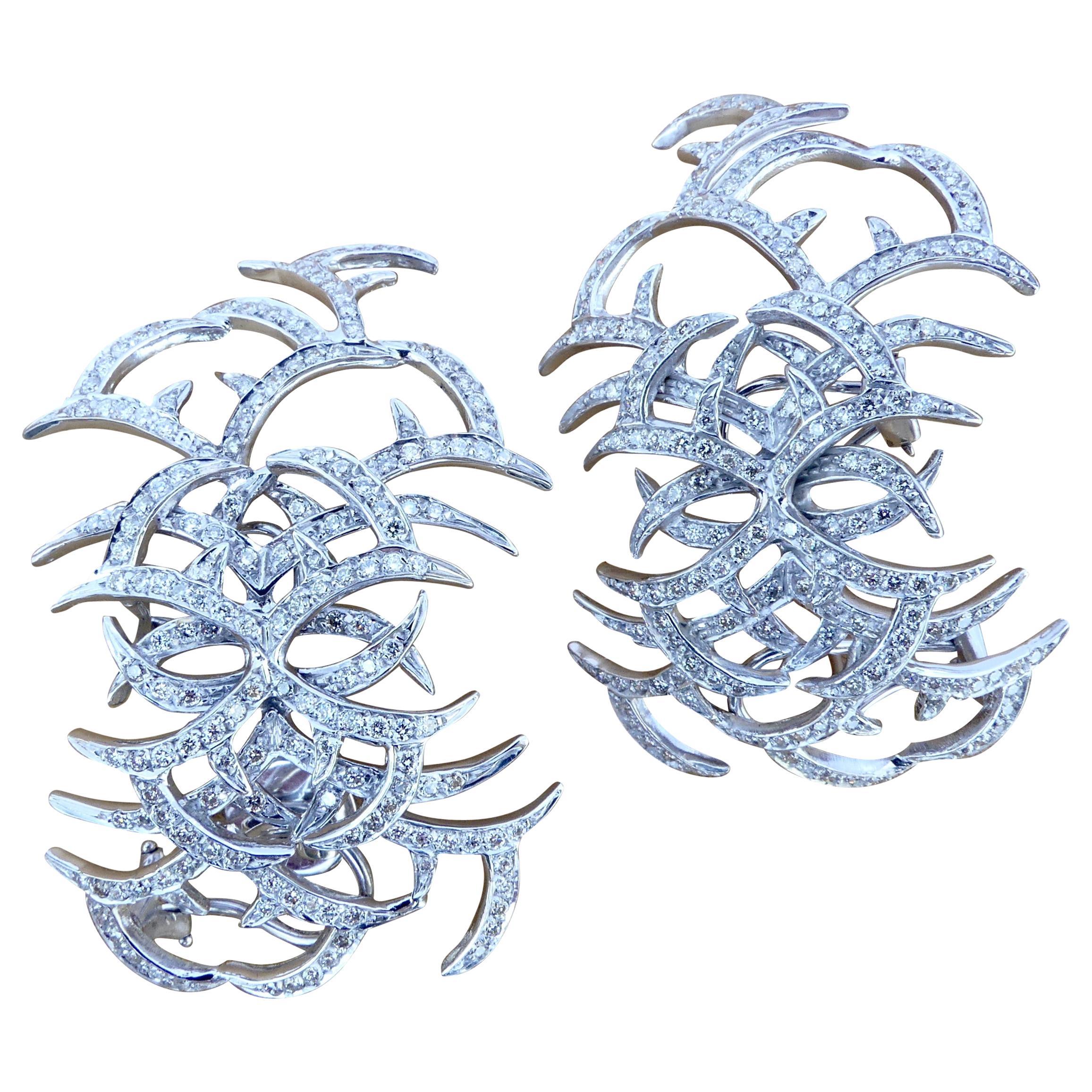 Ana Khouri Arachnid Diamond Earrings, 2013