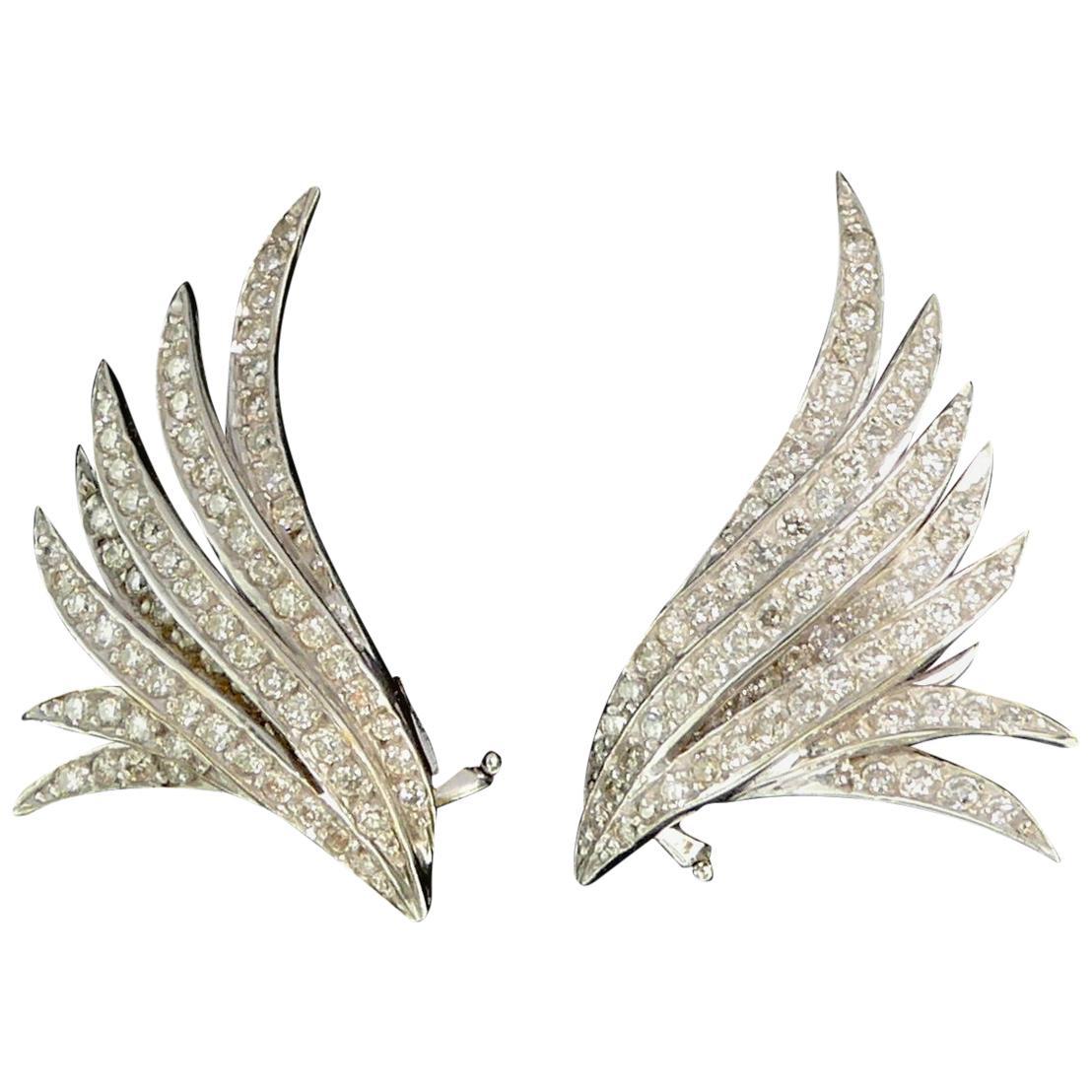 Ana Khouri Diamond Wing Earrings, 2014