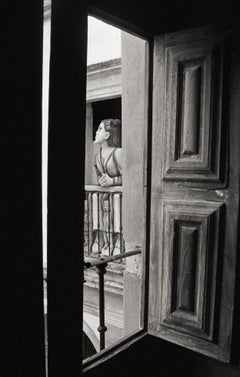 """Beauty at the Window"" Black & White Photography Signed, Gelatin Silver Print"