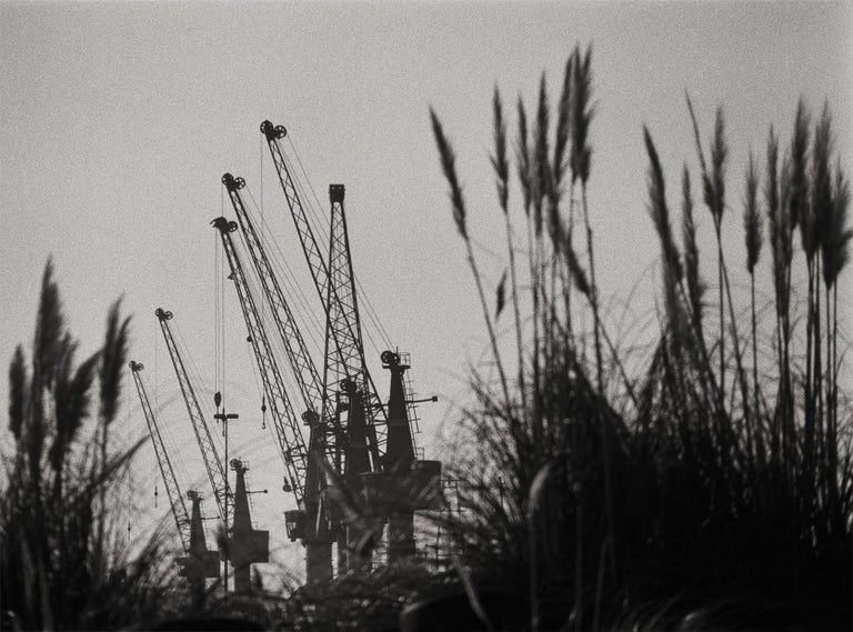Ana Maria Cortesão Landscape Photograph - Harbor, Black & White Photography, Gelatin Silver Print, Signed, Portugal 2000