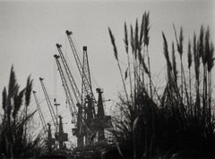 Harbor, Black & White Photography, Gelatin Silver Print, Signed, Portugal 2000