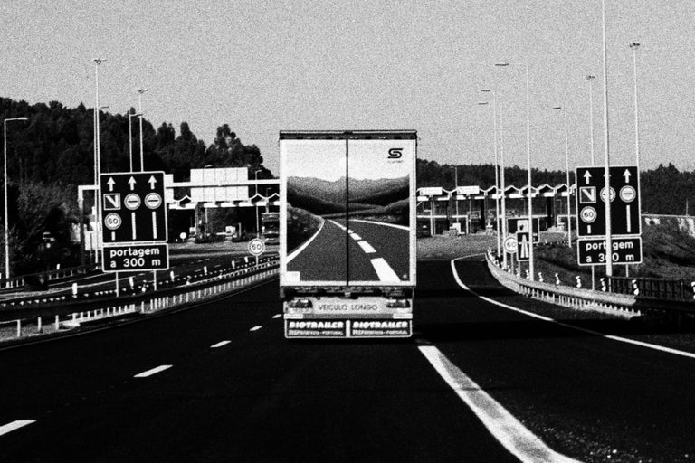 Highway, Portugal 2003 /Gelatin Silver Print/ Signed - Photograph by Ana Maria Cortesão