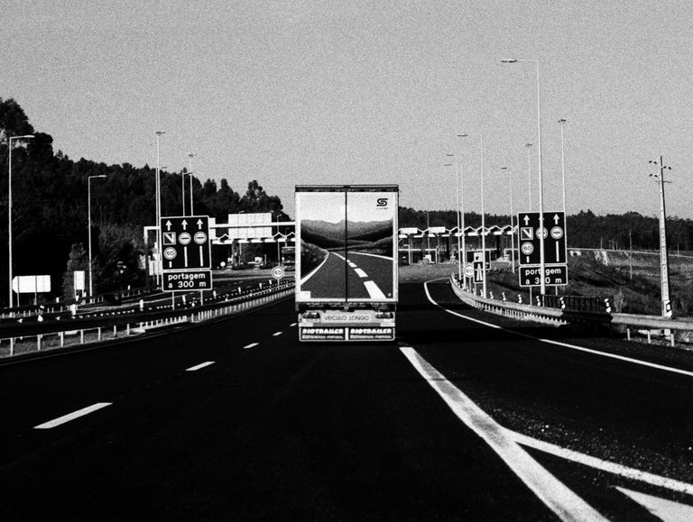 Ana Maria Cortesão Black and White Photograph - Highway, Portugal 2003 /Gelatin Silver Print/ Signed