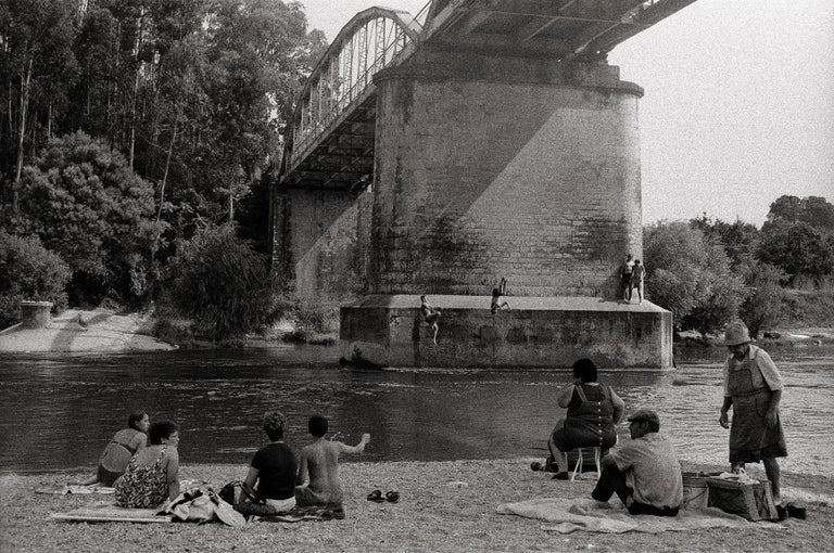 River Jumping - Portugal 2000 - Gelatin Silver Print - Signed - Contemporary Photograph by Ana Maria Cortesão