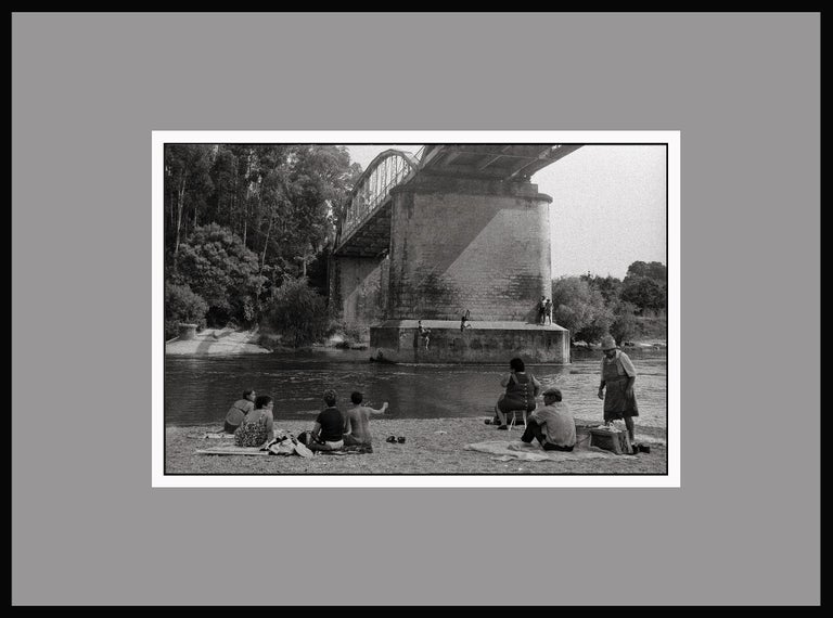 River Jumping - Portugal 2000 - Gelatin Silver Print - Signed - Black Black and White Photograph by Ana Maria Cortesão