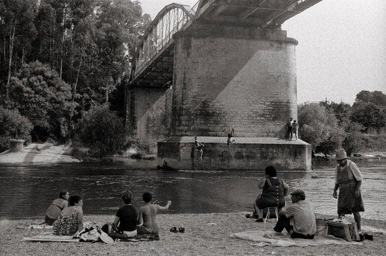 Ana Maria Cortesão Black and White Photograph - River Jumping - Portugal 2000 - Gelatin Silver Print - Signed