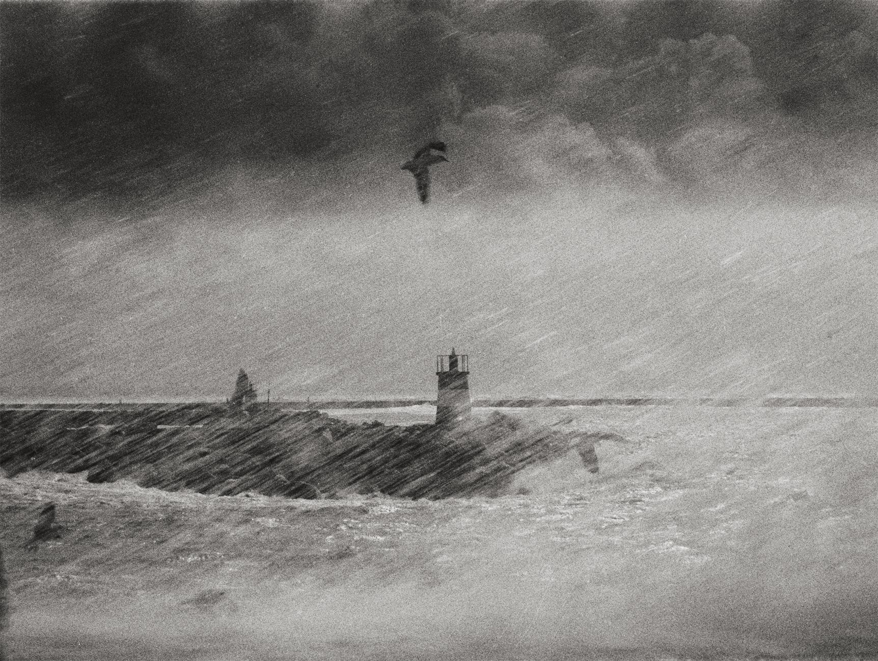 Storm, Portugal 1999 /Gelatin Silver Print/ Signed