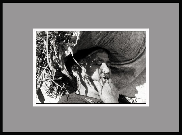 The Peasant - Portugal 2001 - Gelatin Silver Print - Signed - Black Black and White Photograph by Ana Maria Cortesão