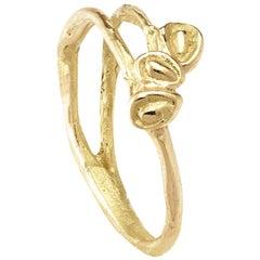 18 Karat Yellow Gold Engagement Ring