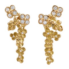 Diamond 18 Karat Yellow Gold Earrings