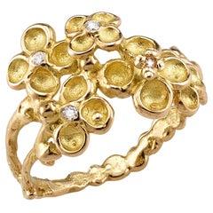 Anais Rheiner Diamonds 18 Karat Yellow Gold Ring