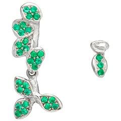 Emerald 18 Karat White Gold Earrings