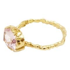 Morganite 18 Karat Yellow Gold Ring
