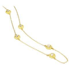 AnaKatarina 18 Karat Yellow Gold and Diamond Sea Urchin 'Intuition' Necklace