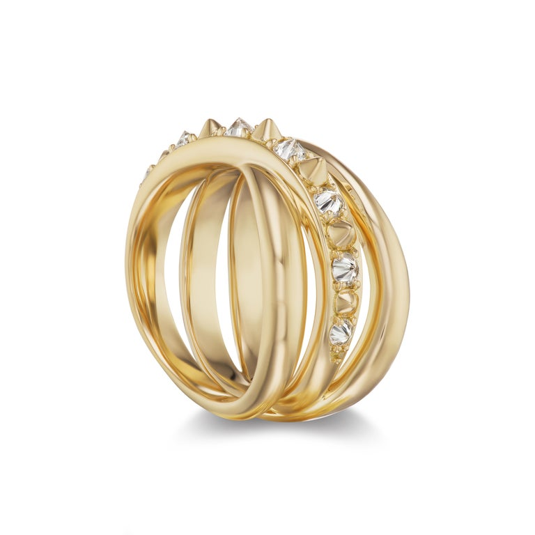 For Sale: undefined AnaKatarina 18k Gold and Inverted Diamond 'Attitude' Ring 2