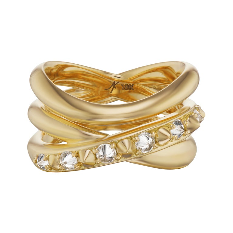 For Sale: undefined AnaKatarina 18k Gold and Inverted Diamond 'Attitude' Ring