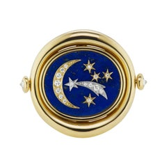 """AnaKatarina 4 Elements """"Air"""" Ring in Lapis, Diamonds, White and Yellow Gold"""
