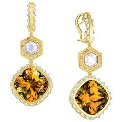 AnaKatarina Csarite, Diamond, and 18K Gold Earrings