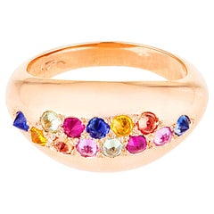 AnaKatarina Rose Gold and Colored Sapphire Stacking Ring