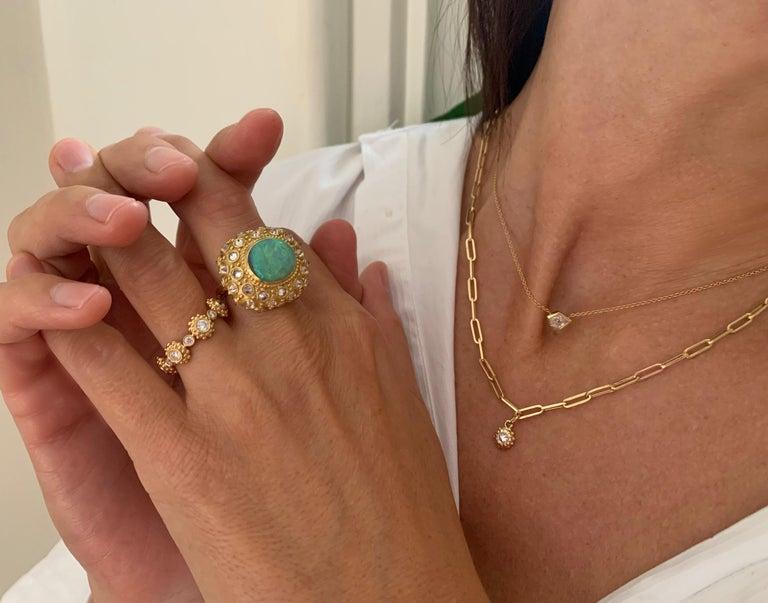 Brilliant Cut AnaKatarina 'Tribe' Customizable Birthstone Necklace For Sale