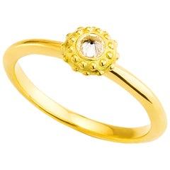 AnaKatarina Yellow Gold and Diamond 'Evolution' Stacking Ring