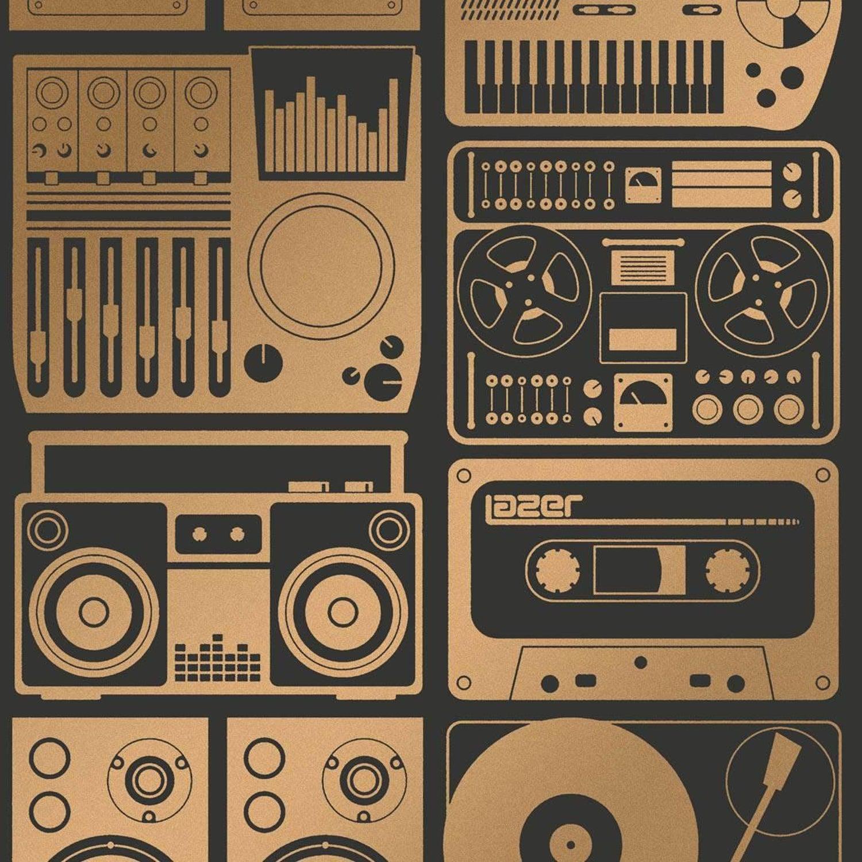 kid wallpaper usa mylar. Analog Nights Screen Printed Wallpaper In Color Chromatic \u0027Copper On Soft Black\u0027 For Sale At 1stdibs Kid Usa Mylar A