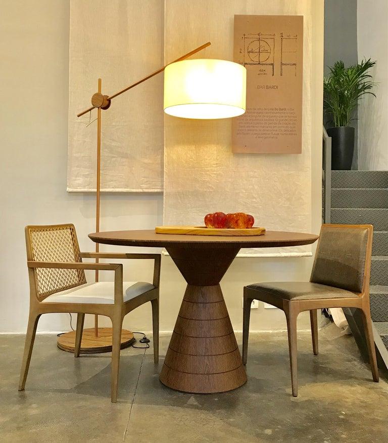Anambé Brazilian Unique Rare Wood Dining Table In New Condition For Sale In Sao Paulo, Sao Paulo