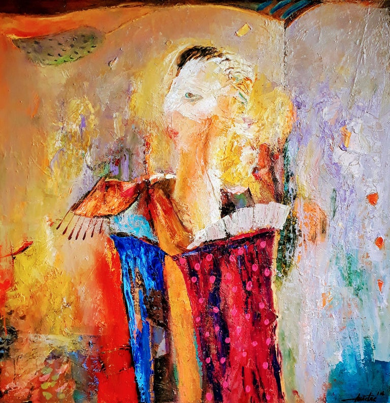 Anastas Kamburov Abstract Painting - Cantabile