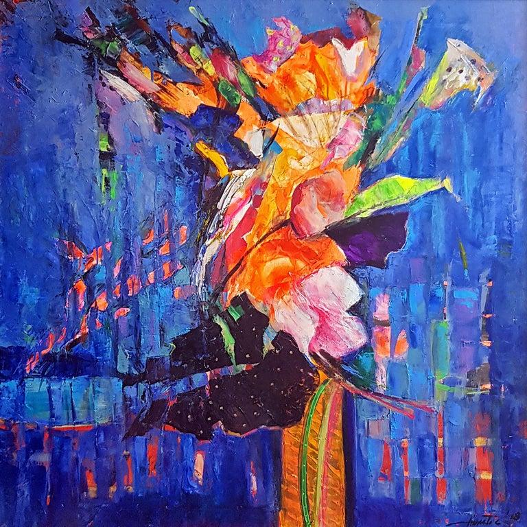 Anastas Kamburov Abstract Painting - The Bunch