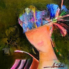 The Hat - Abstract Portrait Colors Red Blue Green White Brown Purple Yellow