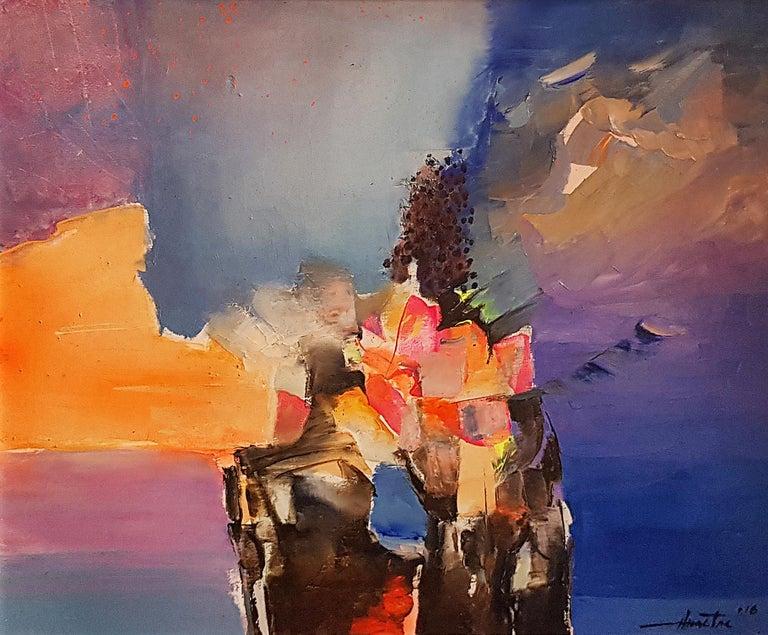 Anastas Kamburov Abstract Painting - The Sunrise