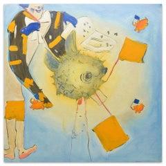 Clown - Original Oil on Canvas by Anastasia Kurakina - 2010