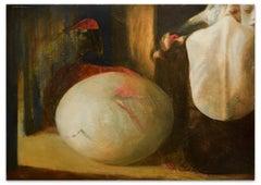 The Egg - Original Oil on Canvas by Anastasia Kurakina - 2000s