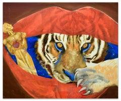 Tiger - Oil on Canvas by Anastasia Kurakina - 2000s