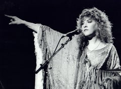 Stevie Nicks of Fleetwood Mac Pointing on Stage Vintage Original Photograph