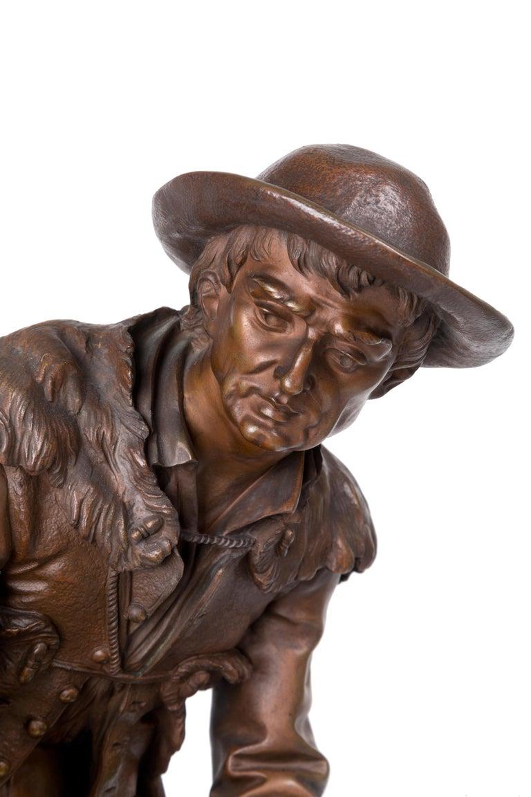19th Century Anatole J. Guillot Bronze Sculpture Depicting