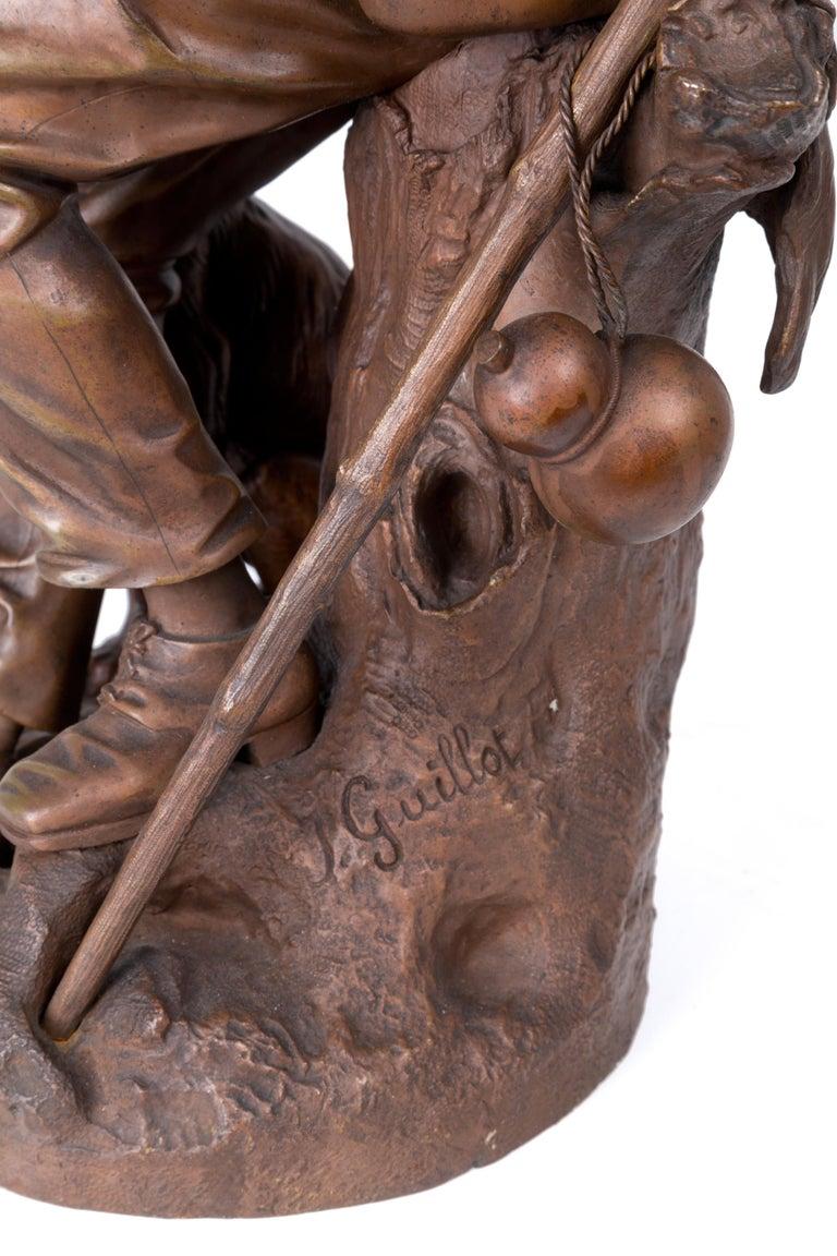 Anatole J. Guillot Bronze Sculpture Depicting