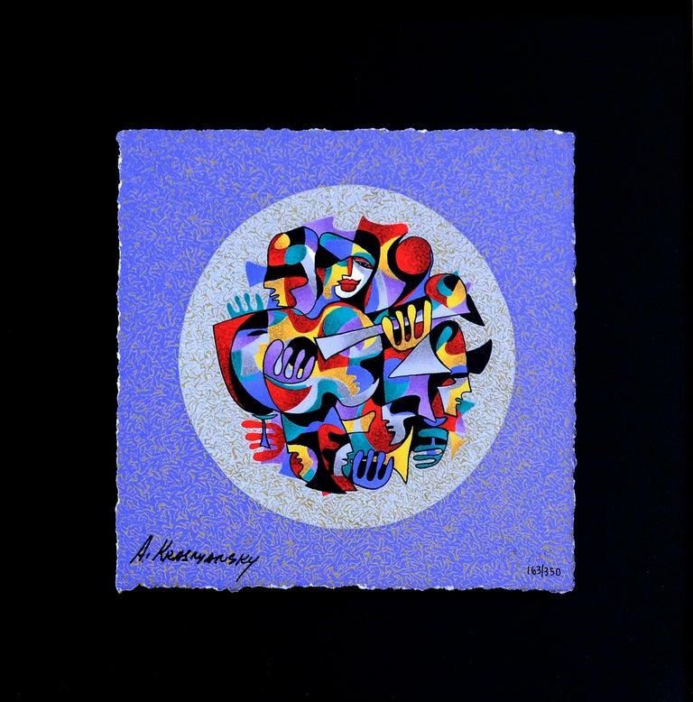 Anatole Krasnyansky Abstract Print - Figurative Abstract Serigraph, 163/350
