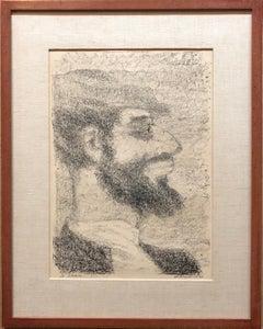 Vintage Russian Shtetl, Scene Judaica Lithograph Jewish Portrait