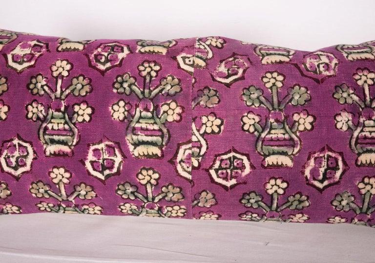 Tribal Anatolian Block Print Pillow Case, Mid-20th Century For Sale