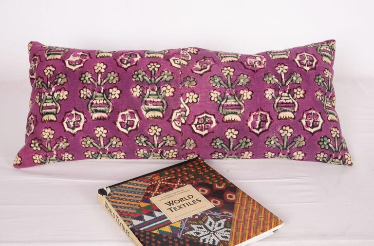 Kalamkari Anatolian Block Print Pillow Case, Mid-20th Century For Sale