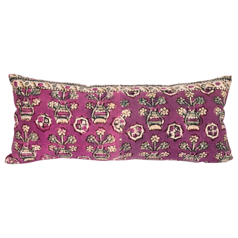 Anatolian Block Print Pillow Case , Mid 20th C