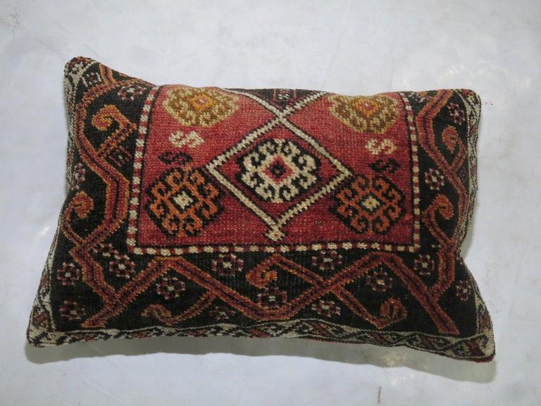 Mid-Century Modern Anatolian Turkish Tribal Rug Pillow For Sale