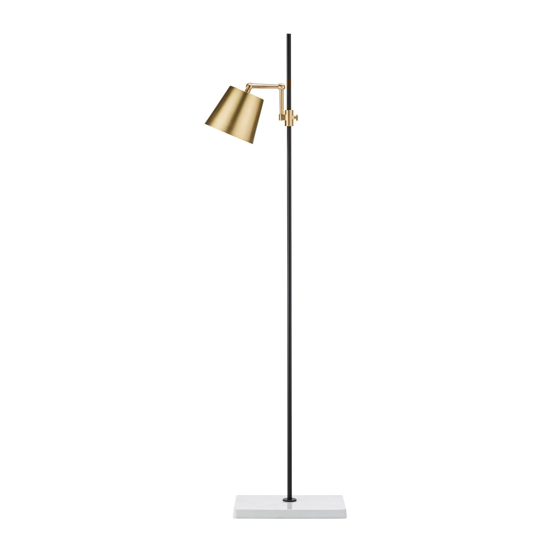 Anatomy Design 'Lab Light Floor' Brass, Porcelain and Steel Floor Lamp