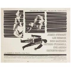 Anatomy of a Murder 1959 U.S. Half Sheet Film Poster