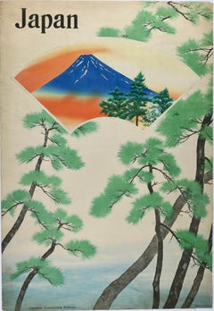 Japan Railways Travel Poster with Original Woodblock Print from 1932