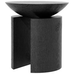 Anca Alta Sculptural Side Table/Stool Tropical Hardwood by Pedro Paulo Venzon