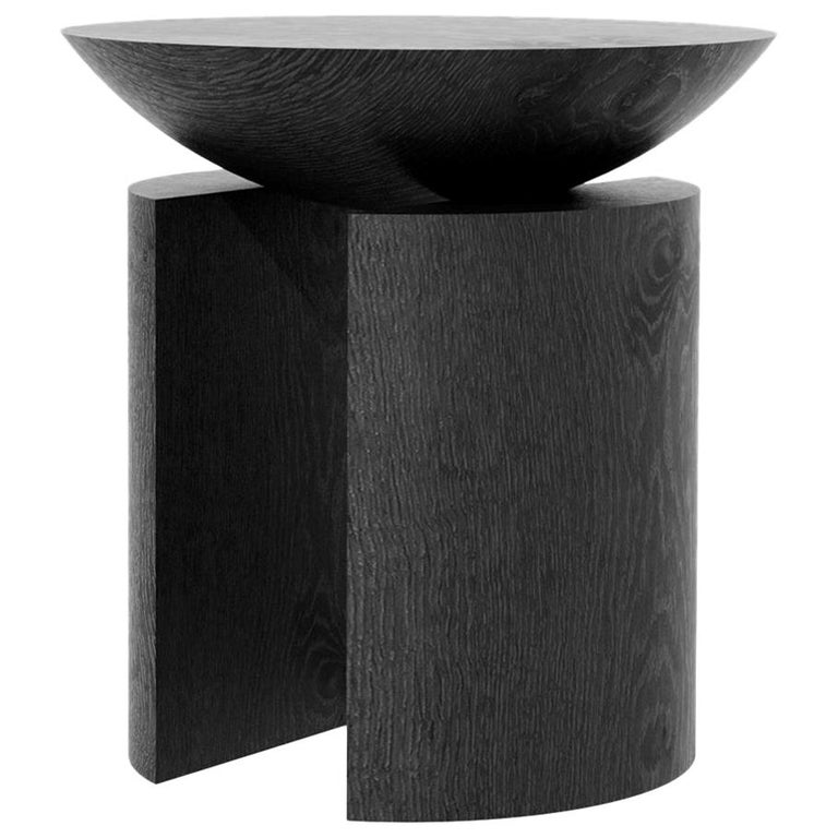 Anca Alta Sculptural Side Table/Stool Tropical Hardwood by Pedro Paulo Venzon For Sale