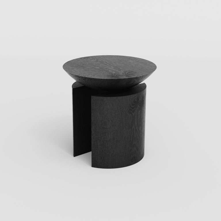 Brazilian Anca Sculptural Side Table or Stool in Tropical Hardwood by Pedro Paulo Venzon For Sale