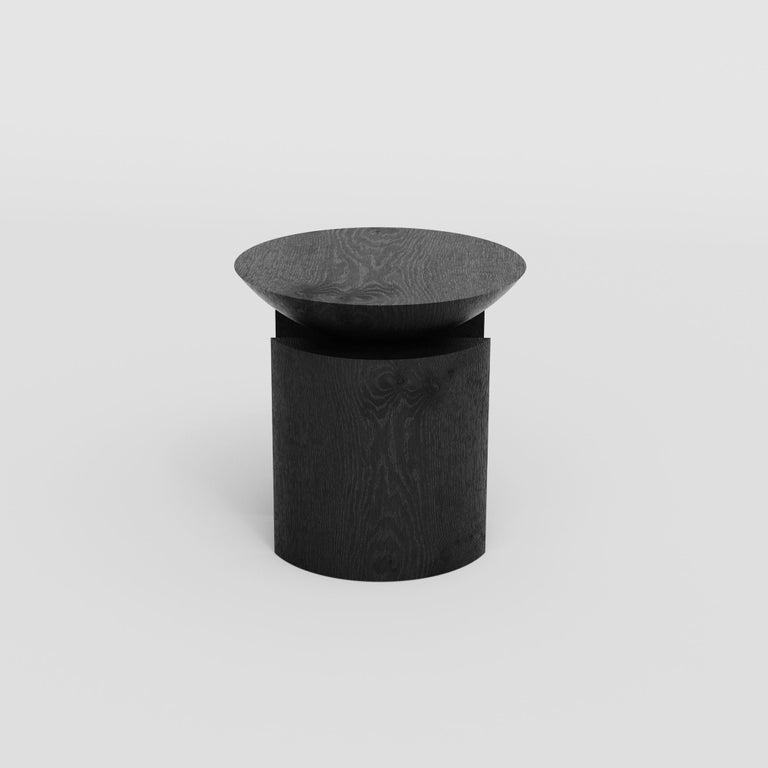 Hand-Crafted Anca Sculptural Side Table or Stool in Tropical Hardwood by Pedro Paulo Venzon For Sale
